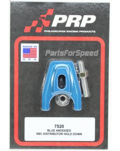 PRP 7520 Blue Anodized Chevy Distributor Hold Down